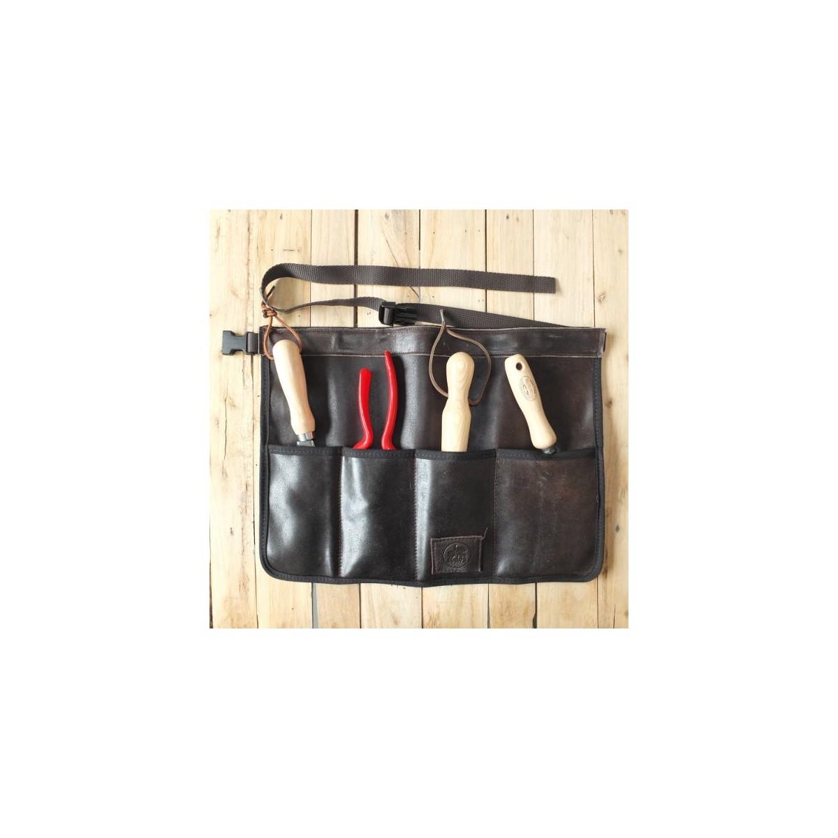 tablier ceinture porte outils en cuir botanique editions. Black Bedroom Furniture Sets. Home Design Ideas