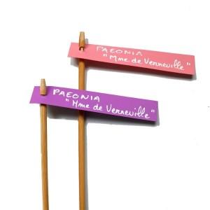 Support Porte-Etiquette Bambou