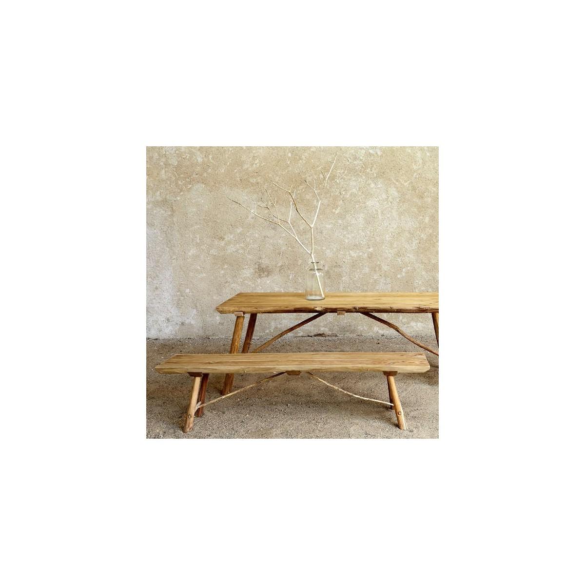 banc de table achat vente mobilier de jardin en bois botanique editions. Black Bedroom Furniture Sets. Home Design Ideas