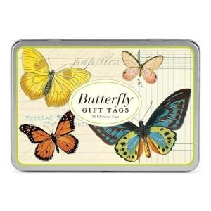 Etiquettes Cadeau Gift Tags 'Papillons'