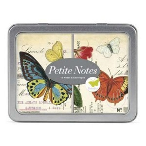 Cartes de Correspodance Petites Notes Papillons