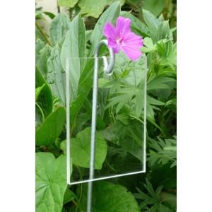 Etiquette Plexiglass Transparent 'Poppy' 7 x 9.5 cm
