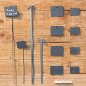 Etiquettes Ardoise, Supports & Feutre - 2 formats