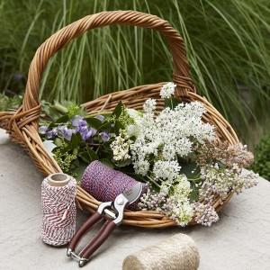 Panier Osier Ramasse Fleur