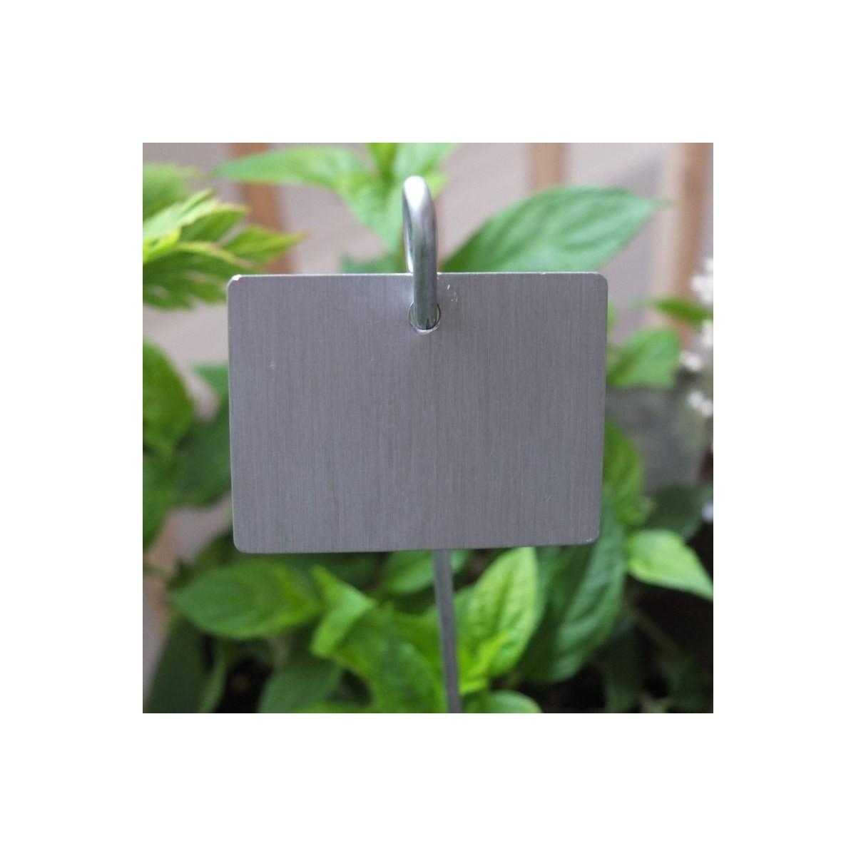Etiquette zinc jardin achat vente etiquettes de jardin - Etiquette jardin ...