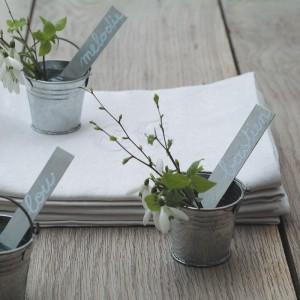 Marque-place seaux & étiquettes zinc