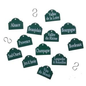 Etiquettes émaillées 'Régions Vinicoles'