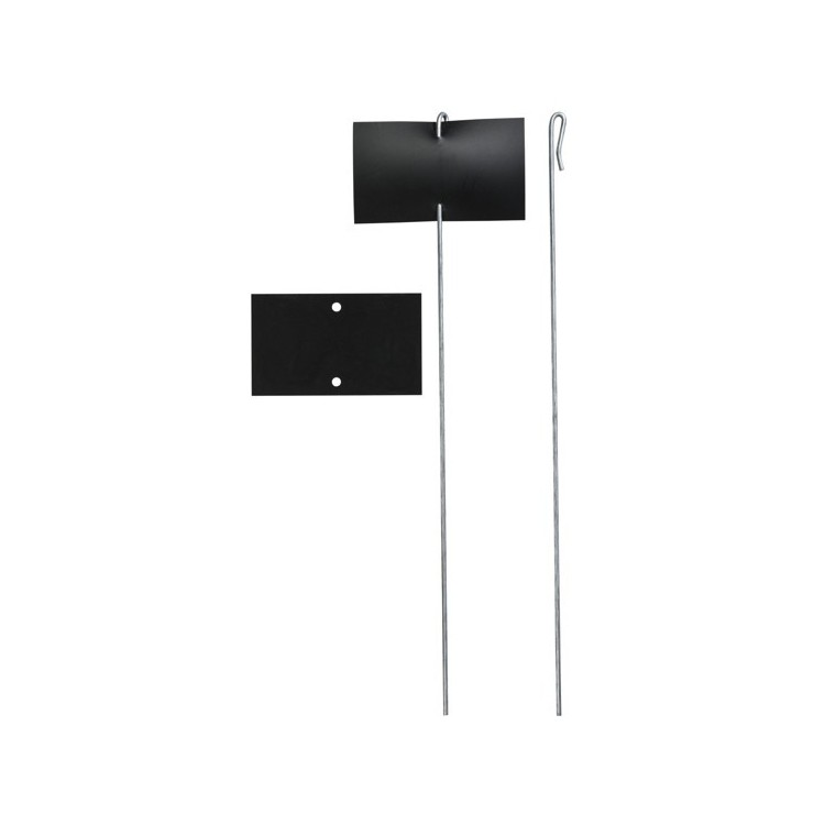 Etiquettes Pvc Noir & Supports Thouin
