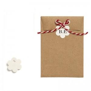 Etiquettes Papier Fleurs