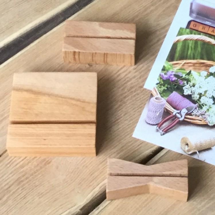 Lutrin - Porte-étiquette en bois