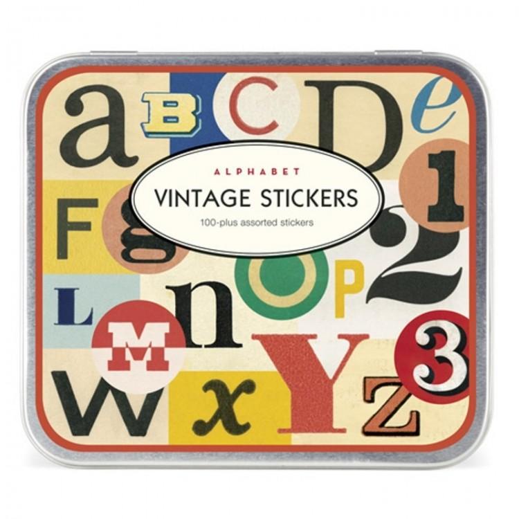 Etiquettes Autocollantes Vintage Stickers 'Alphabet'