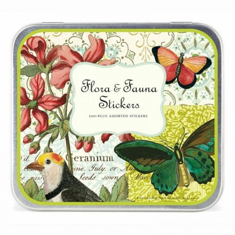 Etiquettes Autocollantes Vintage Stickers 'Flore & Faune'