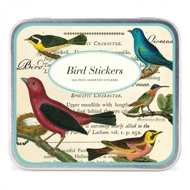 Etiquettes Autocollantes Vintage Stickers 'Oiseaux'