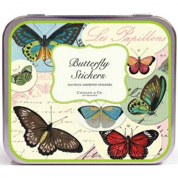 Etiquettes Autocollantes Vintage Stickers 'Papillons'