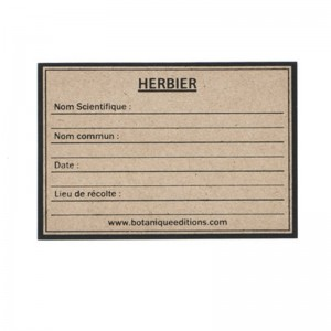 étiquette pour herbier