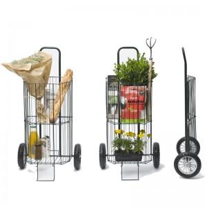 chariot de courses ou poussette à provision pliant