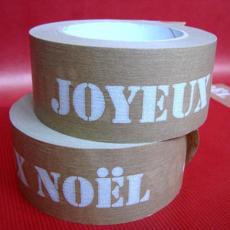 Ruban Adhésif Papier Kraft 'Joyeux Noël'