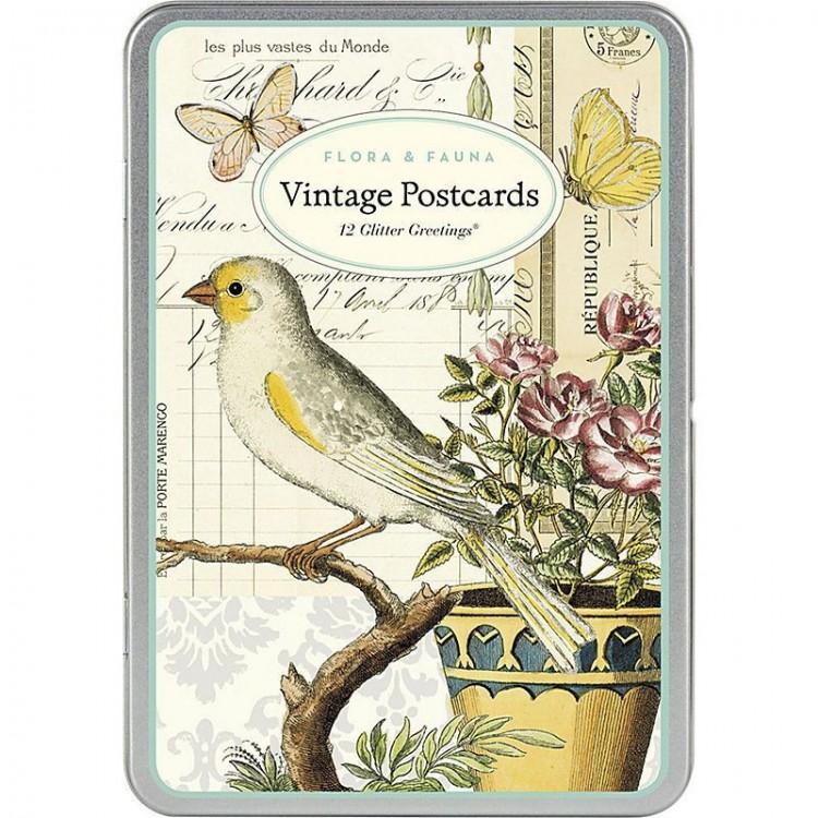 cartes postales flore et faune