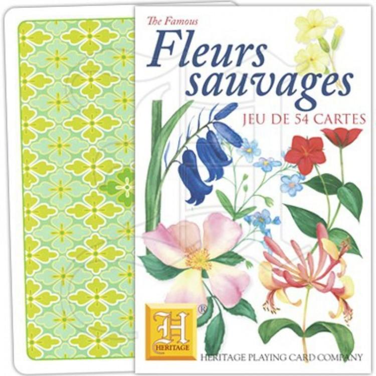 Jeu de Cartes Fleurs Sauvages