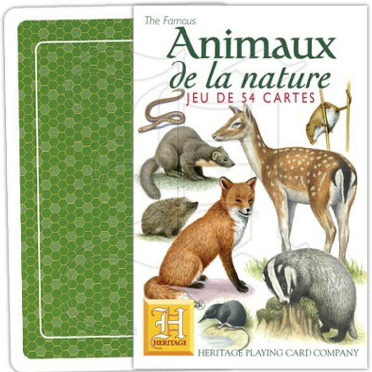 jeu de cartes animaux de la nature