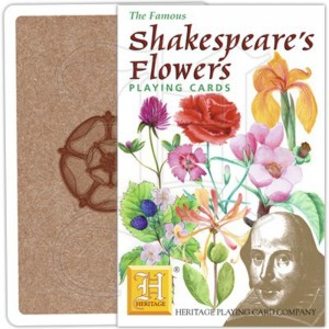 Jeu de Cartes Shakespeare's Flowers