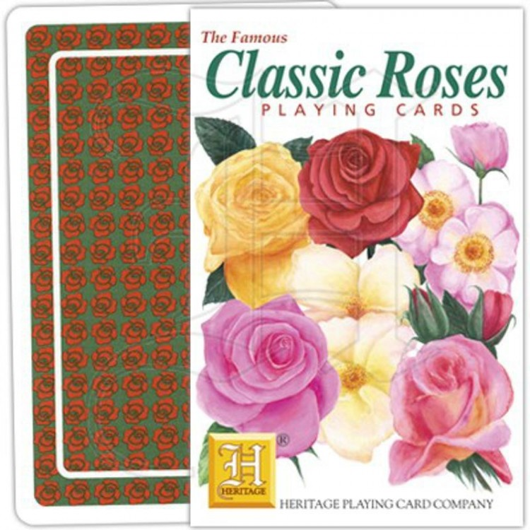 jeu de cartes classic roses