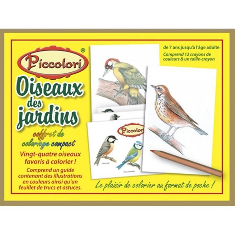 coloriage oiseaux des jardins