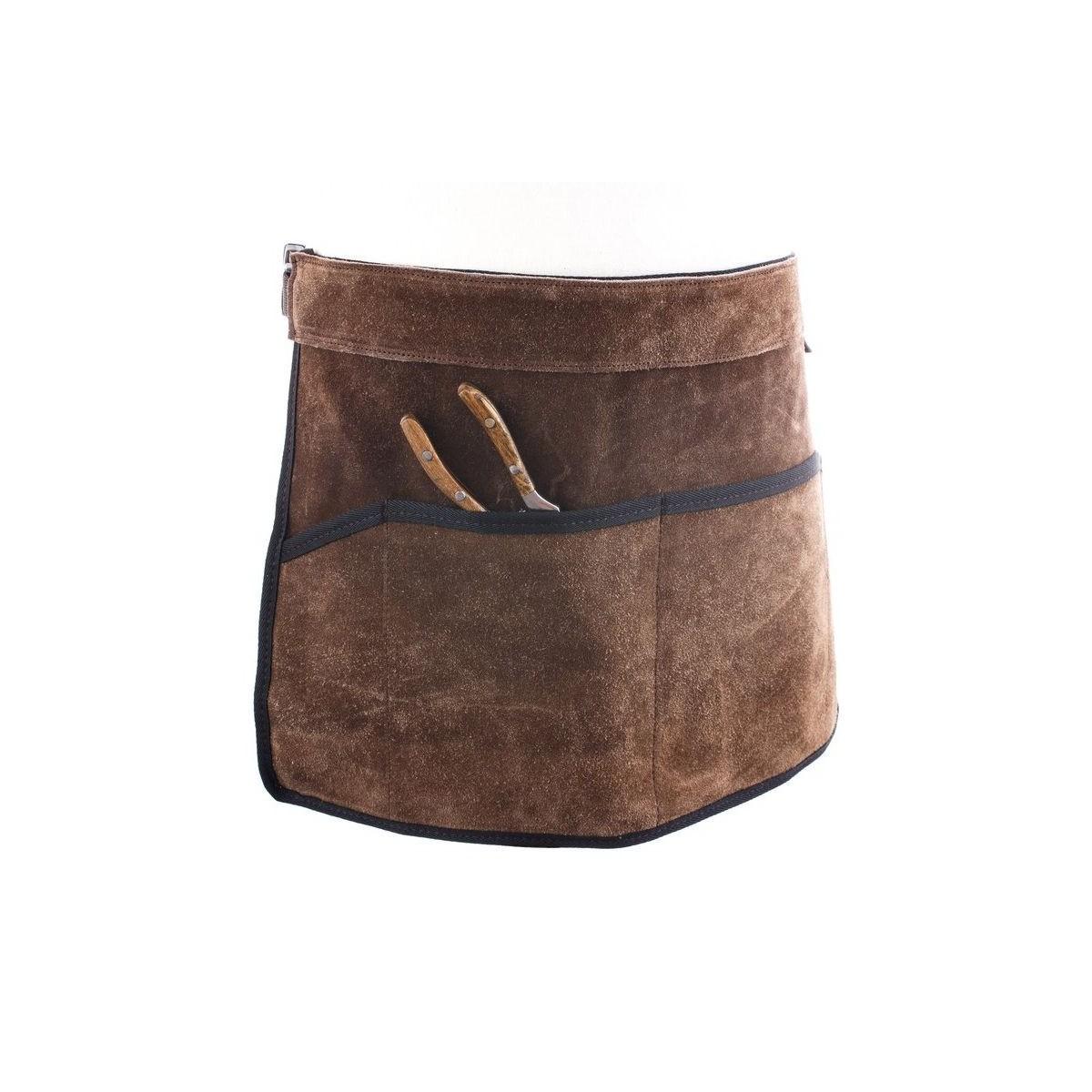 tablier ceinture porte outils en cuir daim botanique editions. Black Bedroom Furniture Sets. Home Design Ideas