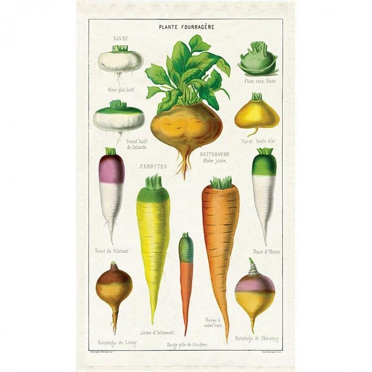 Torchon 100 % coton Légumes