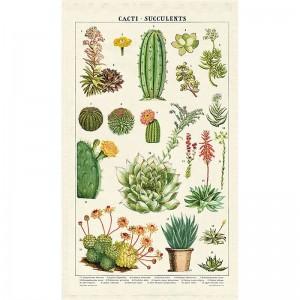 Torchon 100 % coton Cactus & Succulentes