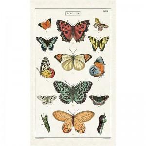 Torchon 100 % coton Papillons