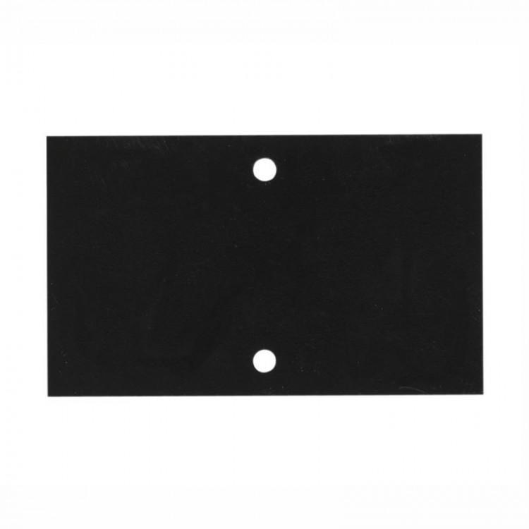 Etiquette pvc noir 2 perforations