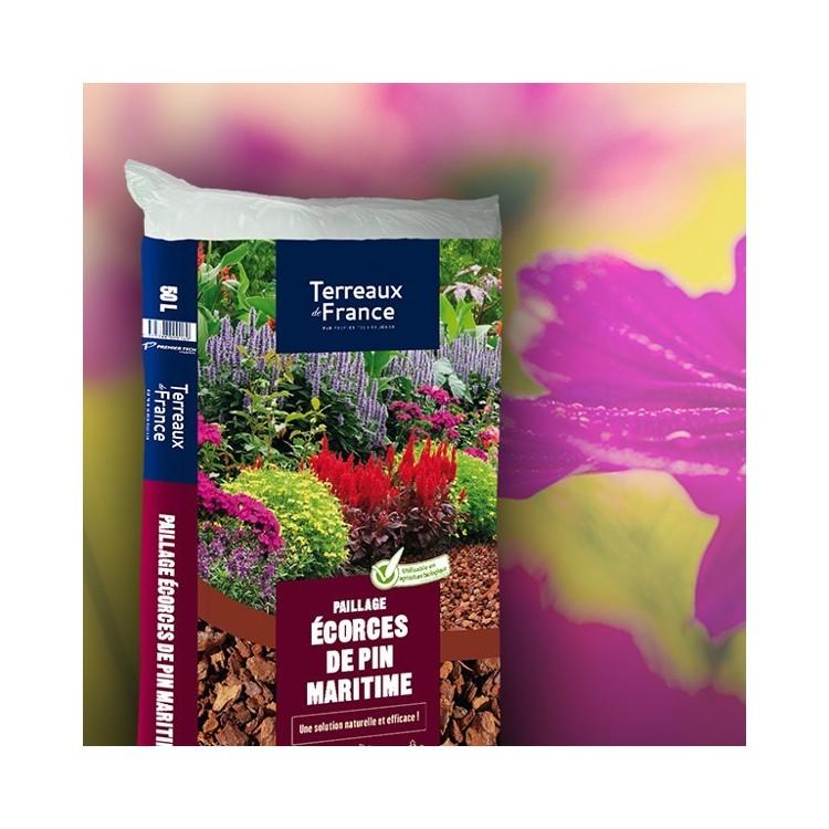paillage ecorces de pin maritime terreau de france paillages terreau botanique editions. Black Bedroom Furniture Sets. Home Design Ideas