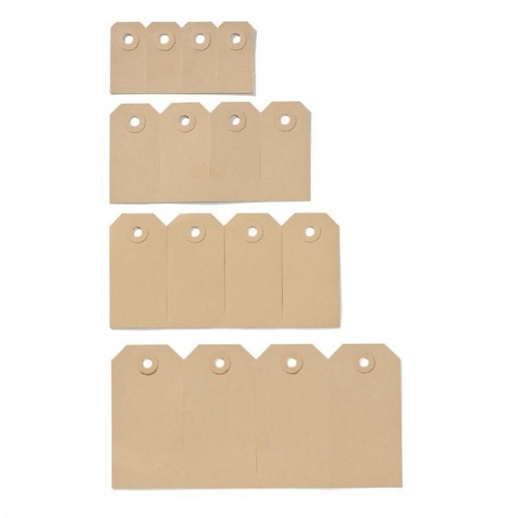 Etiquette américaine cartonnette kraft