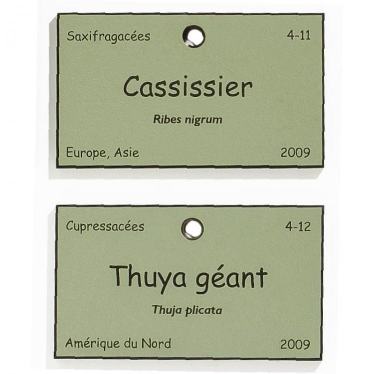 Etiquette Botanique Gravée Trespa