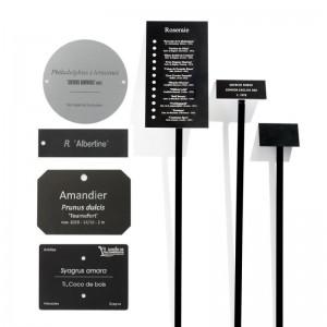 Etiquette Botanique Aluminium Anodisé Gravée