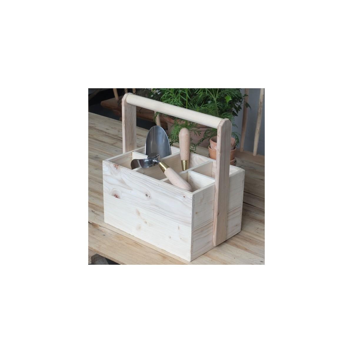 caisse outils de jardin lamarck botanique editions atelier du jardinier botanique editions. Black Bedroom Furniture Sets. Home Design Ideas