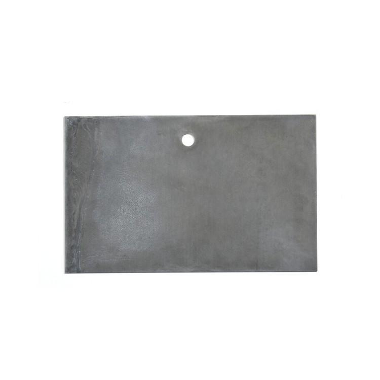 Etiquette en zinc brut